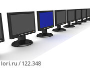 Купить «Ряд мониторов», иллюстрация № 122348 (c) Ильин Сергей / Фотобанк Лори