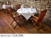 Купить «Стол в ресторане», фото № 124996, снято 7 октября 2006 г. (c) Сергей Старуш / Фотобанк Лори
