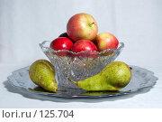 Купить «Натюрморт с яблоками и грушами», фото № 125704, снято 20 октября 2007 г. (c) Петухов Геннадий / Фотобанк Лори