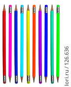 Купить «Цветные карандаши», фото № 126636, снято 28 марта 2007 г. (c) Валерия Потапова / Фотобанк Лори