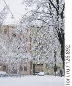 Купить «Заснеженный дворик», фото № 126892, снято 16 ноября 2007 г. (c) Ольга Хорькова / Фотобанк Лори
