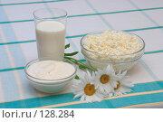 Молоко, сметана и творог. Стоковое фото, фотограф Георгий Марков / Фотобанк Лори