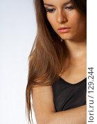 Купить «Портрет красивой девушки», фото № 129244, снято 4 июля 2007 г. (c) Серёга / Фотобанк Лори