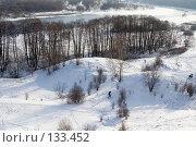 Купить «Зимний пейзаж в Коломенском, вид с высокой точки. Город Москва.», фото № 133452, снято 27 января 2007 г. (c) Солодовникова Елена / Фотобанк Лори