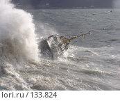 Купить «Корабль переворачивает волной», фото № 133824, снято 14 октября 2005 г. (c) Николаенко Алексей / Фотобанк Лори