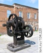 Купить «Старинный штамповочный пресс», фото № 134220, снято 3 июня 2005 г. (c) Serg Zastavkin / Фотобанк Лори