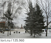 Купить «Красноярск. Вид на памятник командору Резанову.», фото № 135960, снято 2 декабря 2007 г. (c) Любовь Веселова / Фотобанк Лори