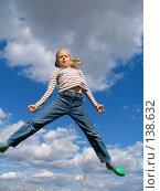 Купить «Высокий прыжок», фото № 138632, снято 14 мая 2005 г. (c) Serg Zastavkin / Фотобанк Лори