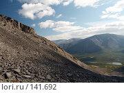Купить «Вид на долину Кунийок с перевала Северный Чоргорр, Хибины», фото № 141692, снято 21 августа 2006 г. (c) Александр Максимов / Фотобанк Лори