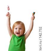 Купить «Девочка с конфетами», фото № 142732, снято 23 ноября 2007 г. (c) Майя Крученкова / Фотобанк Лори