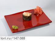 Купить «Острые суши - кальмар и тобико», фото № 147088, снято 14 декабря 2006 г. (c) Иван Сазыкин / Фотобанк Лори