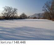 Купить «Заснеженное озеро», фото № 148448, снято 14 декабря 2007 г. (c) Олег Рубик / Фотобанк Лори