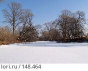 Купить «Заснеженное озеро», фото № 148464, снято 14 декабря 2007 г. (c) Олег Рубик / Фотобанк Лори