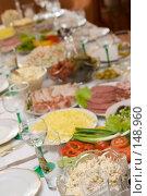 Купить «Праздничный стол», фото № 148960, снято 15 декабря 2007 г. (c) Донцов Евгений Викторович / Фотобанк Лори
