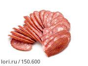 Купить «Вареная колбаса», фото № 150600, снято 14 декабря 2007 г. (c) Угоренков Александр / Фотобанк Лори