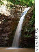 Купить «Водопад. Река Руфабго. Кавказский заповедник», фото № 151772, снято 10 августа 2007 г. (c) Петухов Геннадий / Фотобанк Лори