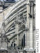 Купить «Лабиринт каменных контрфорсов в комплексе собора Парижской Богоматери во Франции», фото № 152772, снято 22 февраля 2006 г. (c) Harry / Фотобанк Лори