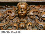 Купить «Деревянный барельеф над входом в один из Парижских домов, Франция», фото № 152888, снято 28 февраля 2006 г. (c) Harry / Фотобанк Лори