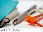 Купить «Ежедневник и авторучка», фото № 155252, снято 20 декабря 2007 г. (c) Олег Селезнев / Фотобанк Лори