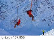 Купить «На чегетской одно-кресельной канатной дороге», фото № 157856, снято 15 декабря 2007 г. (c) Борис Панасюк / Фотобанк Лори