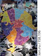 Купить «Карта города Москвы из цветных лампочек», фото № 158196, снято 23 декабря 2007 г. (c) Parmenov Pavel / Фотобанк Лори