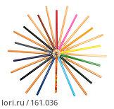 Купить «Набор карандашей на белом фоне», фото № 161036, снято 9 октября 2006 г. (c) Александр Паррус / Фотобанк Лори