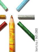 Купить «Набор необычных карандашей на белом фоне», фото № 161080, снято 29 сентября 2006 г. (c) Александр Паррус / Фотобанк Лори