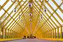 Желтый стеклянный коридор, фото № 162044, снято 25 сентября 2007 г. (c) Бабенко Денис Юрьевич / Фотобанк Лори