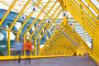 Желтый стеклянный коридор, фото № 162060, снято 25 сентября 2007 г. (c) Бабенко Денис Юрьевич / Фотобанк Лори