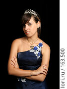 Купить «Девушка с диадемой, на черном фоне», фото № 163500, снято 26 июля 2007 г. (c) Александр Паррус / Фотобанк Лори