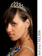 Купить «Девушка с диадемой, на черном фоне», фото № 163504, снято 26 июля 2007 г. (c) Александр Паррус / Фотобанк Лори
