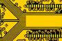 Желтая печатная плата с местом для текста, фото № 163688, снято 1 мая 2017 г. (c) Роман Сигаев / Фотобанк Лори