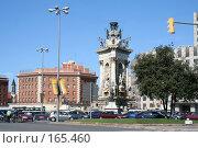 Купить «Площадь Испании в Барселоне», фото № 165460, снято 18 сентября 2005 г. (c) Солодовникова Елена / Фотобанк Лори