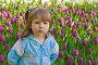 Девочка на фоне тюльпанов, фото № 167196, снято 23 мая 2007 г. (c) Ольга Сапегина / Фотобанк Лори