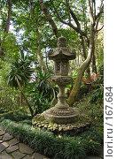 """Купить «Каменный японский светильник в """"тропических садах"""", Мадейра, Фуншал», фото № 167684, снято 29 декабря 2007 г. (c) Tamara Kulikova / Фотобанк Лори"""