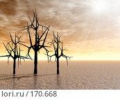 Купить «Деревья, восход», иллюстрация № 170668 (c) ElenArt / Фотобанк Лори