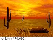 Купить «Пустыня, закат», иллюстрация № 170696 (c) ElenArt / Фотобанк Лори