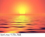 Купить «Красный закат», иллюстрация № 170768 (c) ElenArt / Фотобанк Лори