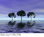 Купить «Сумерки, деревья», иллюстрация № 170776 (c) ElenArt / Фотобанк Лори