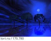Купить «Ночь, деревья», иллюстрация № 170780 (c) ElenArt / Фотобанк Лори