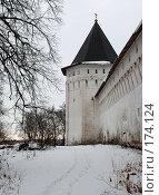 Купить «Одна из башен Саввино-Сторожевского монастыря», фото № 174124, снято 21 ноября 2007 г. (c) Владимир Тарасов / Фотобанк Лори