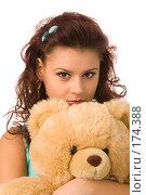 Купить «Девушка с игрушкой», фото № 174388, снято 23 декабря 2007 г. (c) Валентин Мосичев / Фотобанк Лори