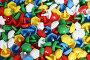 Разноцветная детская мозаика россыпью, фото № 175196, снято 13 января 2008 г. (c) Галина Лукьяненко / Фотобанк Лори
