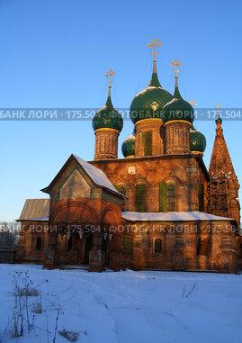 Купить «Ярославль. Церковь Иоанна Златоуста.», фото № 175504, снято 3 января 2008 г. (c) Сергей Лисов / Фотобанк Лори