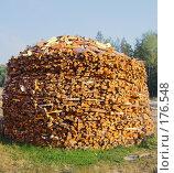 Купить «Поленница дров на острове Валаам», фото № 176548, снято 16 августа 2007 г. (c) Чертопруд Сергей / Фотобанк Лори