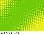 Купить «Зеленый фон с абстрактным желтым рисунком», иллюстрация № 177436 (c) Лукиянова Наталья / Фотобанк Лори