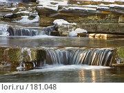 Купить «Ступени водопада», фото № 181048, снято 15 января 2008 г. (c) Федор Королевский / Фотобанк Лори