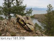 Вершина горы, бухта Зуун-Хагун, озеро Байкал. Стоковое фото, фотограф Дарья Киселева / Фотобанк Лори