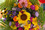 Букет цветов. Вид сверху, фото № 182164, снято 9 сентября 2007 г. (c) Иван Мацкевич / Фотобанк Лори