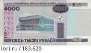 Купить «Деньги Белоруссии - 5000 рублей», фото № 183620, снято 19 марта 2019 г. (c) Игорь Веснинов / Фотобанк Лори
